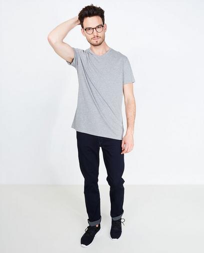 Wit T-shirt met V-hals